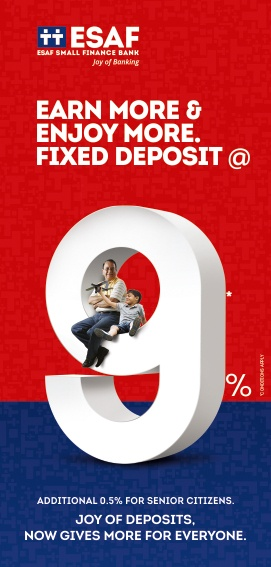 Fixed Deposit Interest at 9%