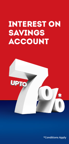 Savings Account Interest upto 7%